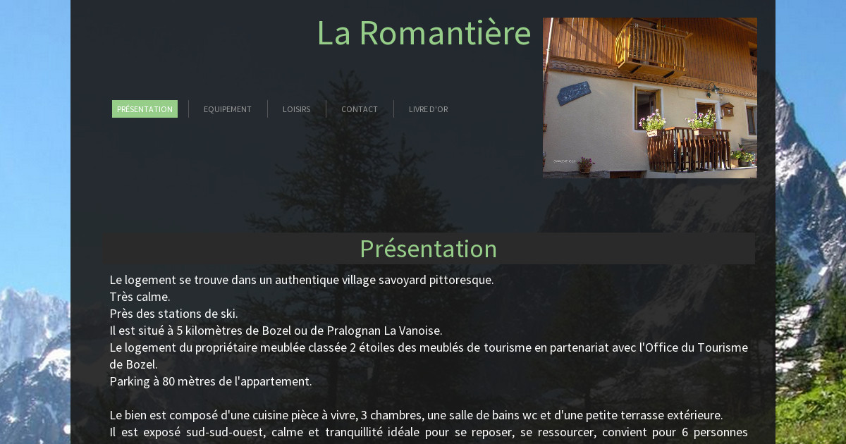 La romanti re pr sentation - Office du tourisme pralognan la vanoise ...